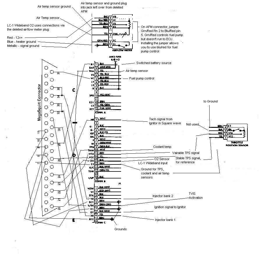 mitsubishi ecu wiring diagram besides megasquirt wiring diagram