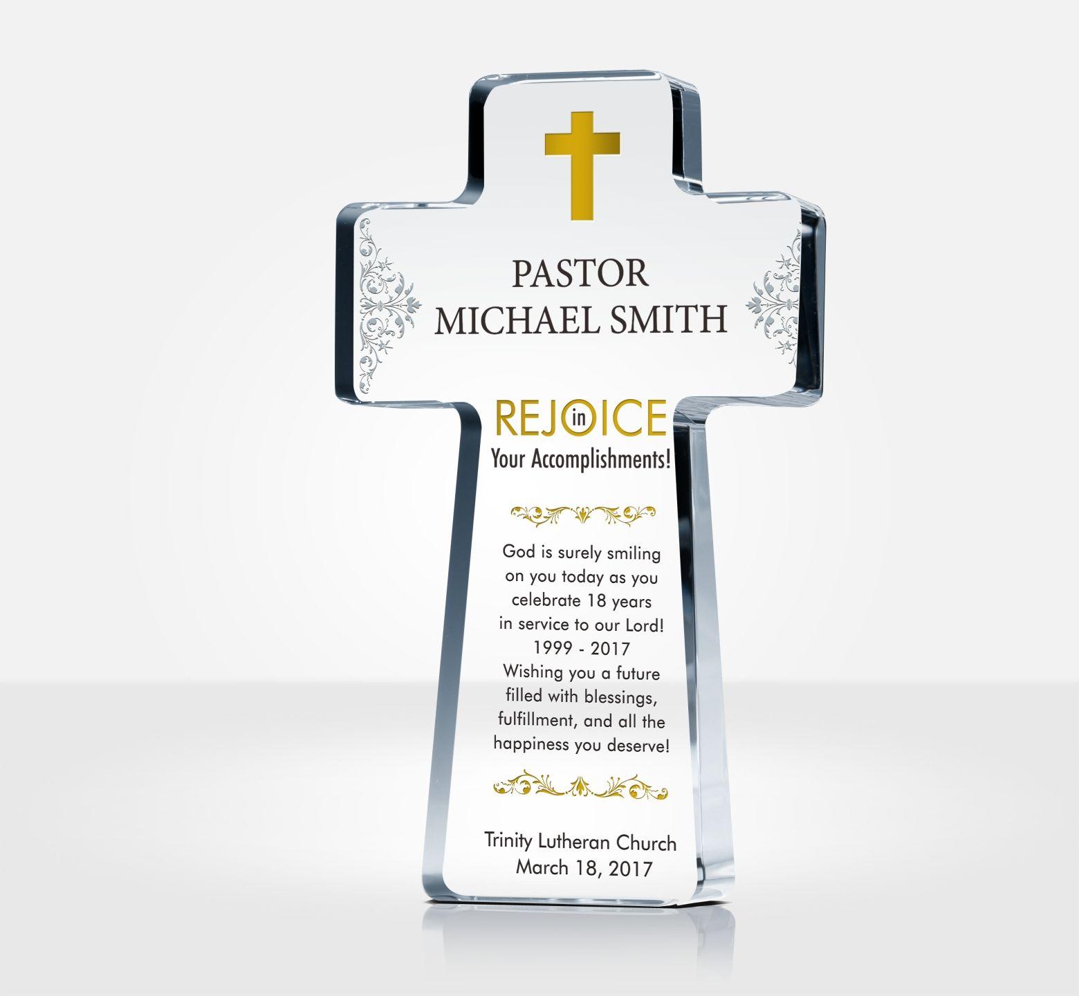 Pastor Appreciation Cross Plaques and Sample Wordings  DIY Awards