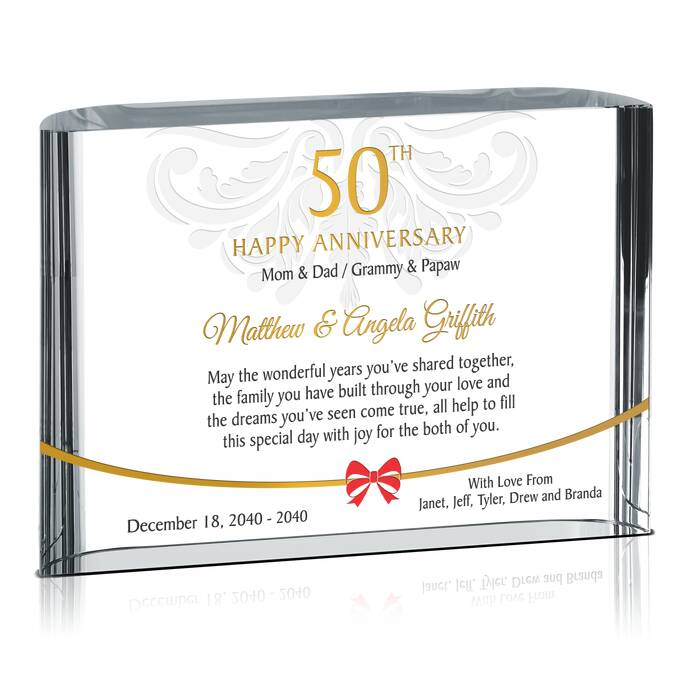 personalized 50th wedding anniversary