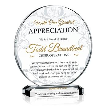 Unique Boss Appreciation Plaques with Sample Award Wording