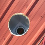 Cutting a Chimney Hole in my Pristine Metal Roof