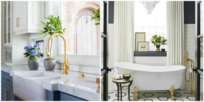 white gold bathroom house interior design diy