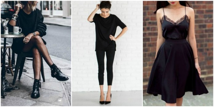 black outfits to copy