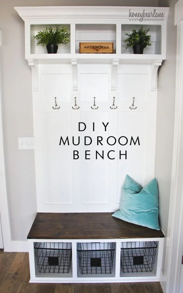 DIY Mudroom Bench Idea