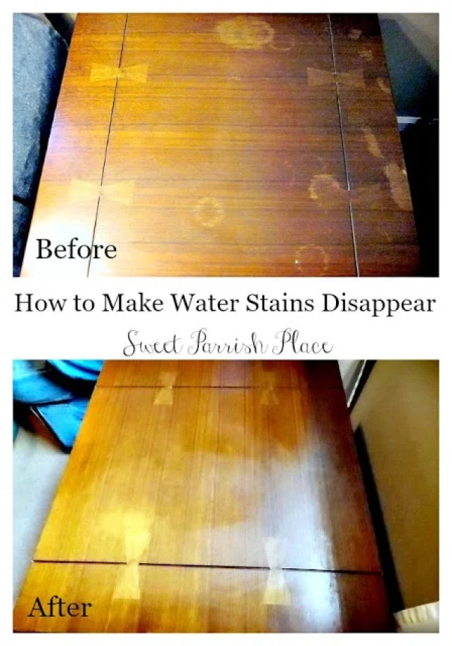 How to Deep Clean Your Entire Home | Removing Water Marks From Wood Surfaces
