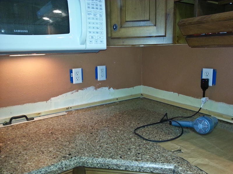 tile on painted drywall diy home