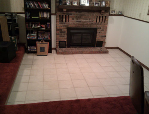 Raise Sunken Living Room With Fireplace Diy Home Improvement Forum