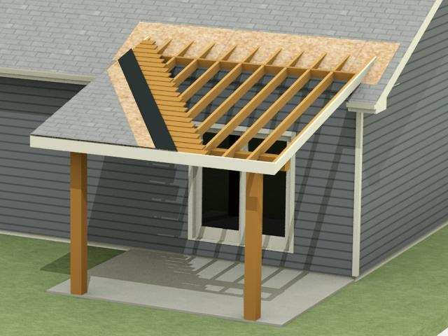 patio roof extension with basement