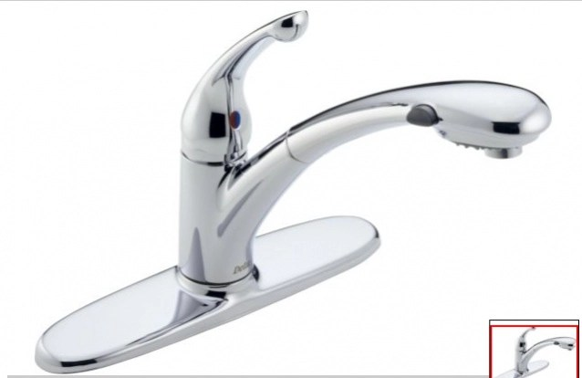faucet leak below kitchen sink and from
