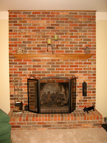 Question On Removing Brick Veneer Fireplace