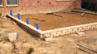 Patio pavers on a slope