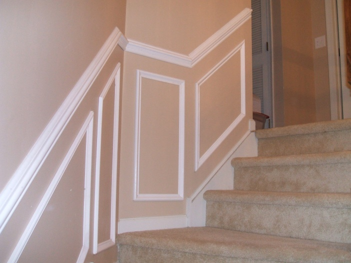 how to install chair rail pottery barn wooden dining chairs installing up staircase carpentry diy chatroom home 001 jpg