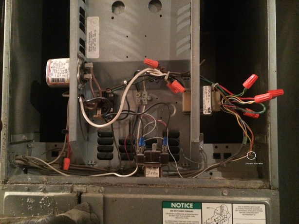 Central Air Thermostat Wiring Diagram Connecting Quot C Quot Wire For Digital Thermostat Hvac Diy