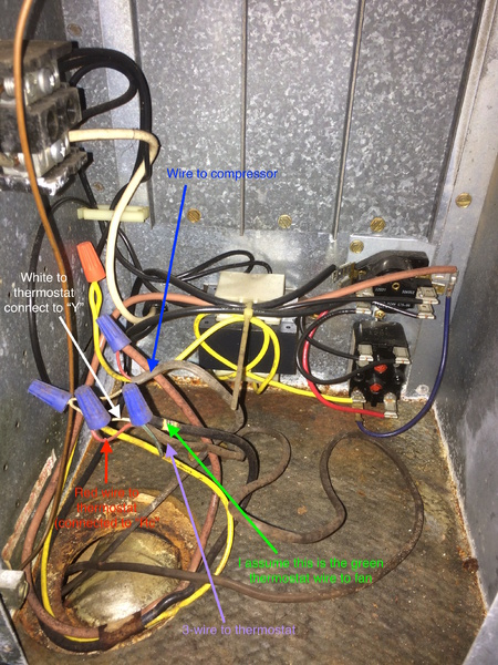 Air Conditioner Compressor Wiring Diagram Trying To Locate Common Wire On Ruud Air Handler Hvac