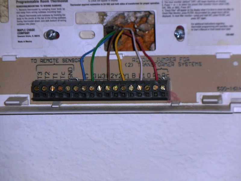 Wiring Honeywell Thermostat Rth6350
