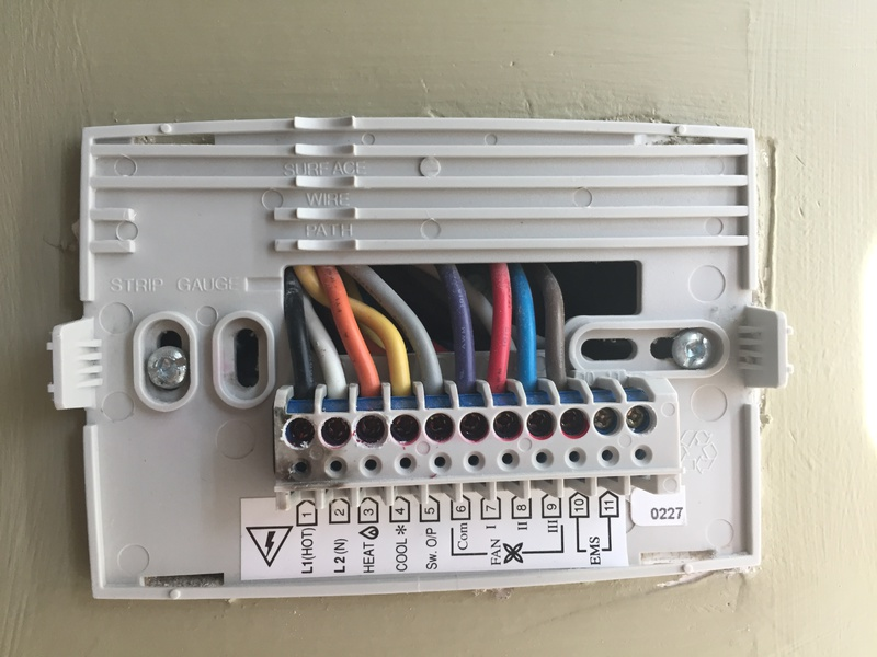 honeywell thermostat wiring diagram wires