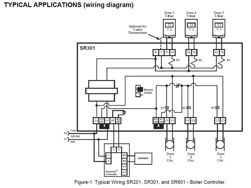 wiring diagram for 5 wire thermostat