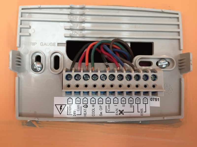 Honeywell Thermostat Wiring Rth2300 Help With Honeywell Thermostat