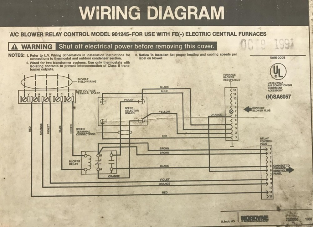 medium resolution of 1991 intertherm nordyne furnace with added ac split system hvac york furnace wiring diagram 1991 intertherm