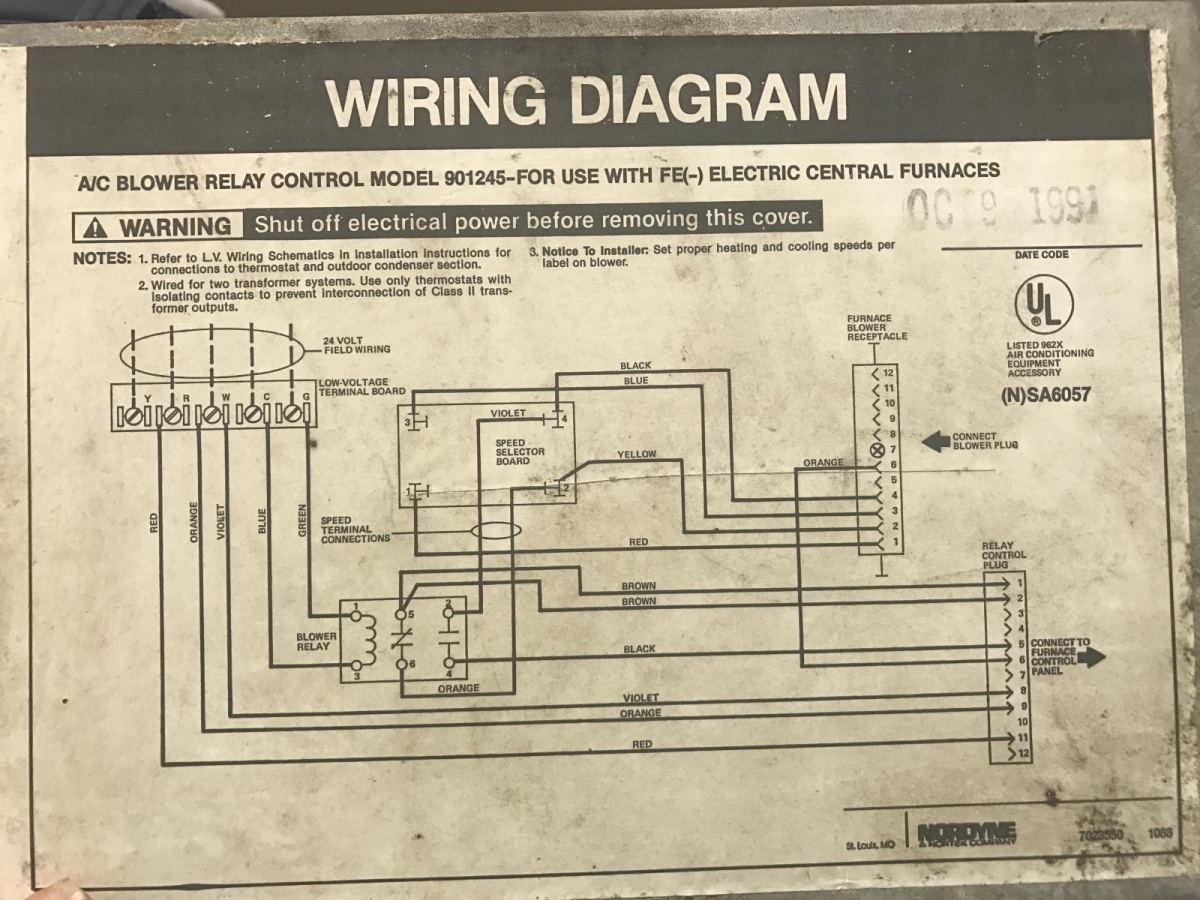 intertherm wiring diagram sunvic motorised valve diagrams 1991 nordyne furnace with added ac split system