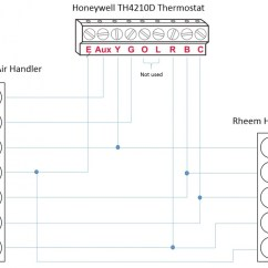 Wiring Diagram For Thermostat With Heat Pump 2002 Dodge Neon Radio Honeywell T-stat / Rheem Pump: L, E, Aux, W1, W2 Questions - Hvac Diy Chatroom ...