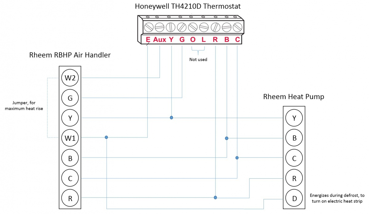 hight resolution of honeywell t stat rheem heat pump l e aux w1 w2 wiring honeywell thermostat wiring for rheem heat pump