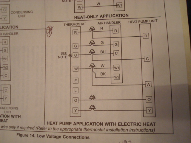 electric heat pump wiring diagram honda civic harness which to use on lenox thermostat setup techs needed