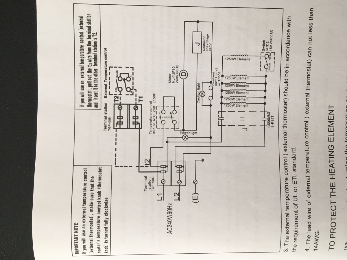 hight resolution of garage heater thermostat wiring what am i missing