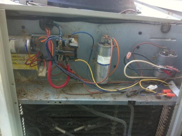 wiring diagram for ac unit capacitor danfoss vlt trane xe1000 outdoor fan connection - hvac diy chatroom home improvement forum
