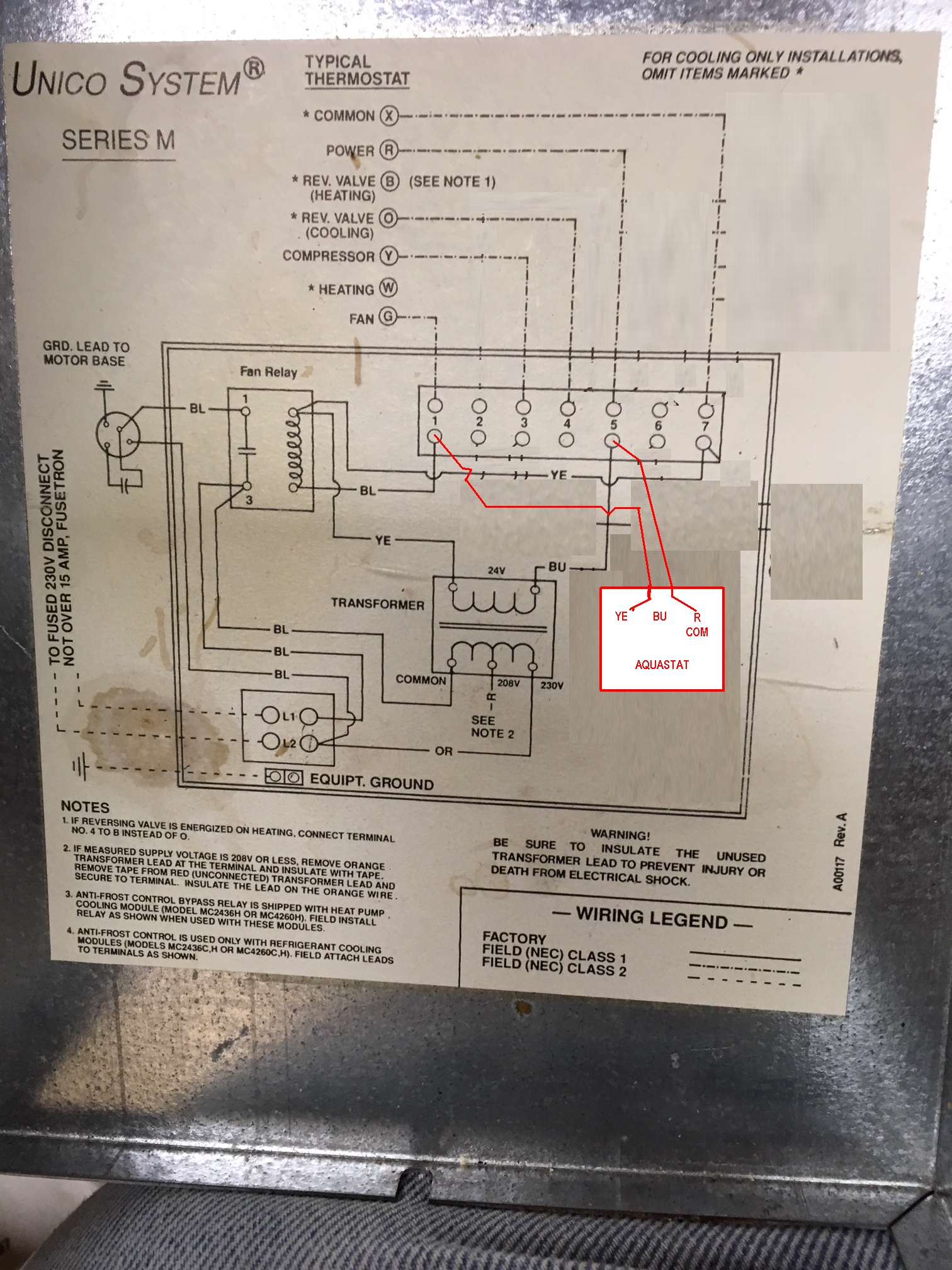 hight resolution of unico thermostat wiring box wiring diagram unico wiring diagram