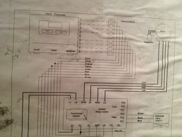 hvac wiring diagram thermostat 2 pir sensors need help with honeywell tb8575a1000 fan coil - diy chatroom home ...