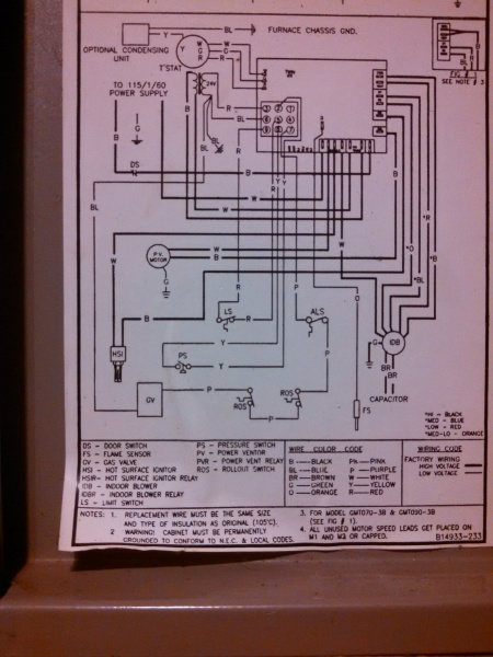Diagram Goodman Wiring Furnace Ae6020