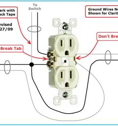 switched receptacle wiring problem duplex receptacle sw jpg [ 1003 x 801 Pixel ]