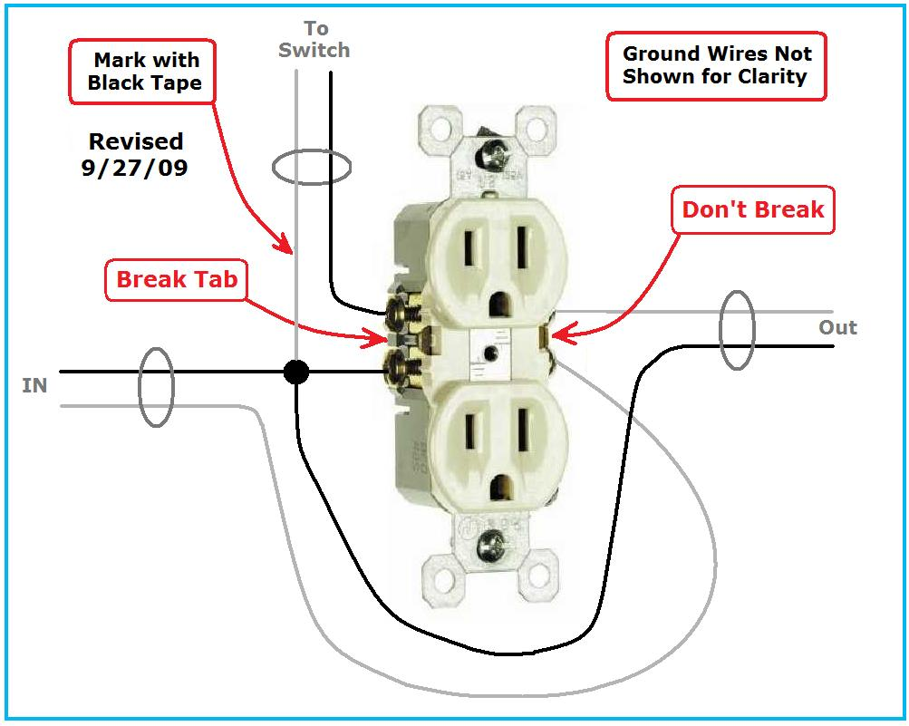 hight resolution of switched receptacle wiring problem duplex receptacle sw jpg