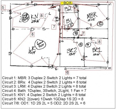 Correct Wiring Diagram For 1 Story House Electrical DIY