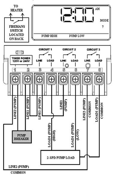 pool pump timer wiring