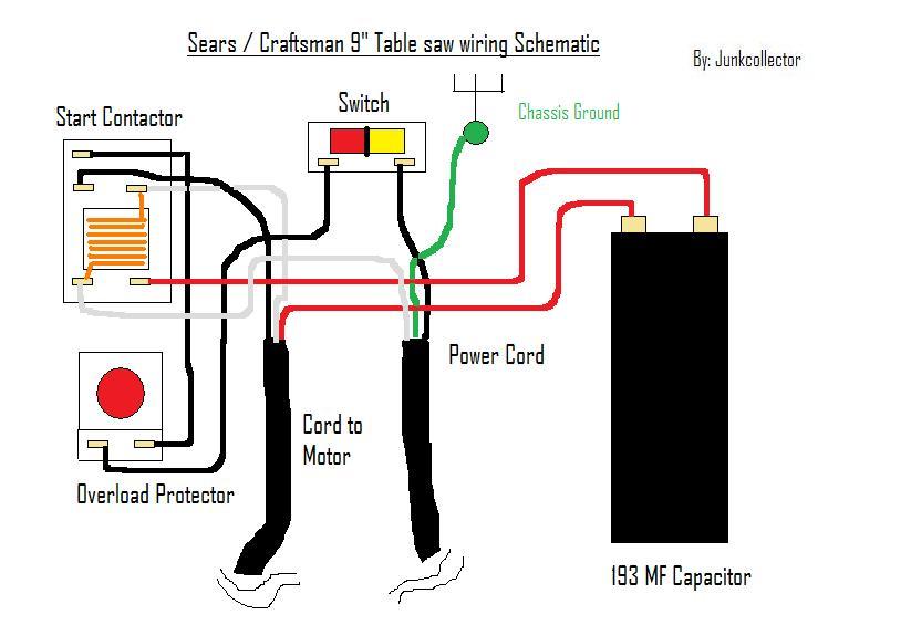 craftsman 10 table saw wiring diagram