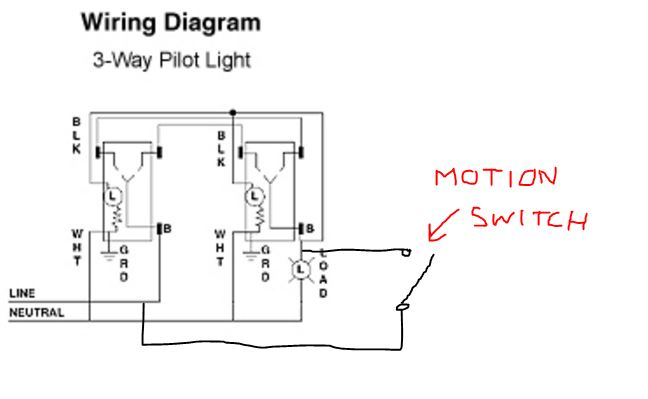 Wiring Diagram Database: 3 Way Motion Sensor Switch Wiring