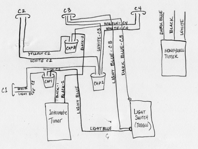 wall switch timer wiring diagram