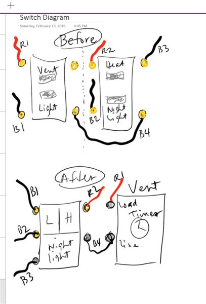Replacing Switches With Bath 4-function Fan/heat/lights