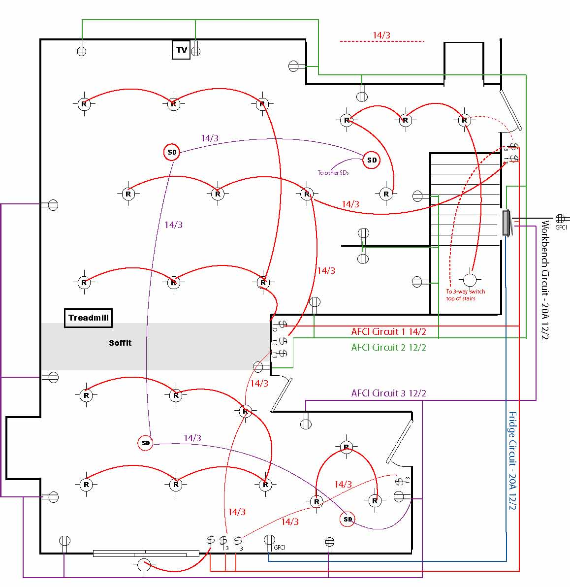 28092d1293391905 basement wiring diagram 60a service 600sf basement_v2?resize=665%2C685 basic home wiring plans and wiring diagrams readingrat net,House Wiring Diagram Ireland
