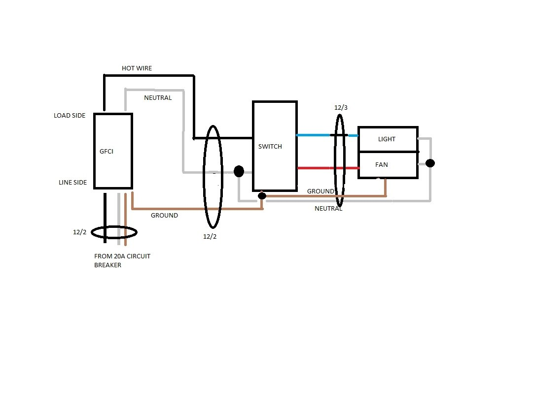 Light Switch To Gfci Schematic Wiring Diagram