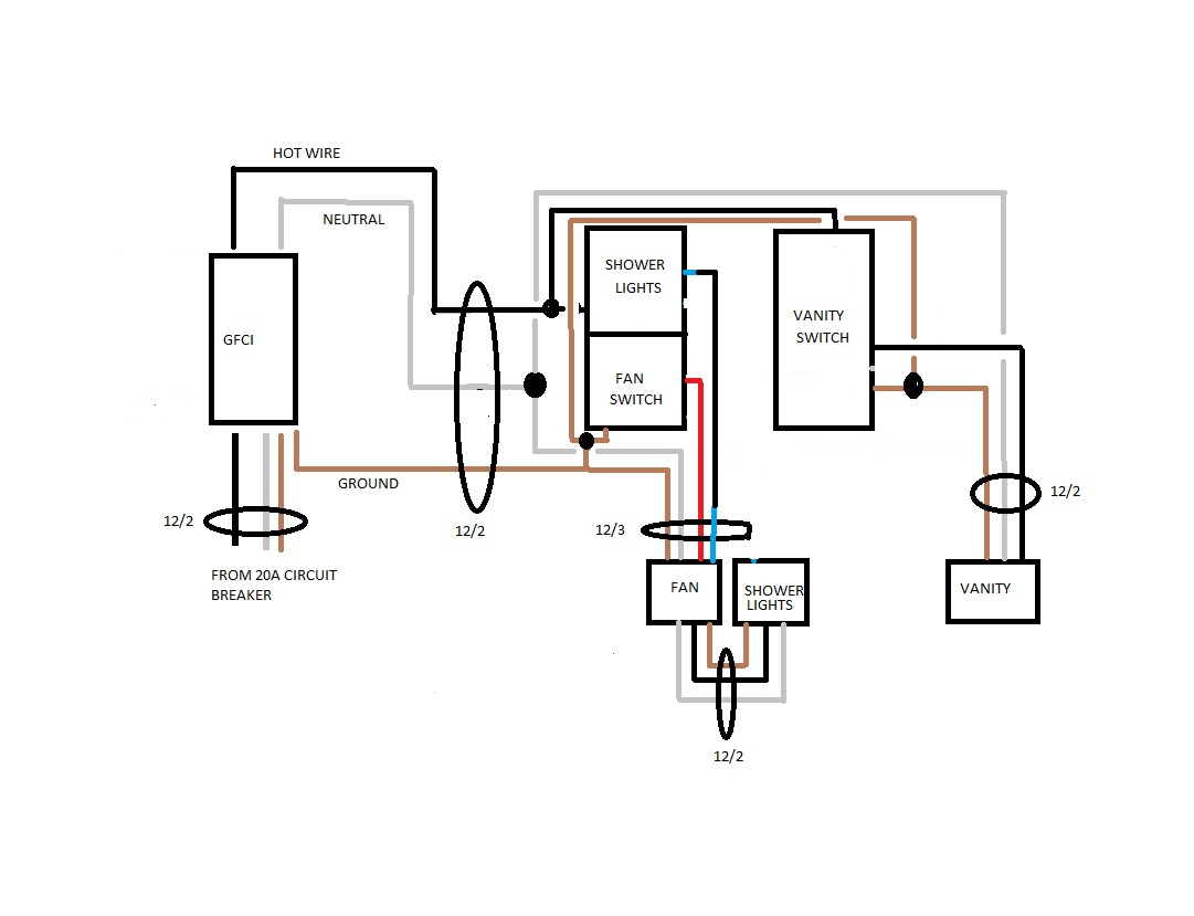 hight resolution of bathroom wiring electrical diy chatroom home improvement forum cooper gfci wiring diagram and fan wiring