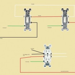How To Wire A Three Way Switch Diagram Ethmoid Bone Two 3-way Switches Controlling One Half-outlet - Electrical Diy Chatroom Home Improvement Forum