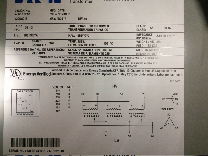 208 3 Phase Wiring Diagram Further 3 Phase Transformer Wiring Diagram