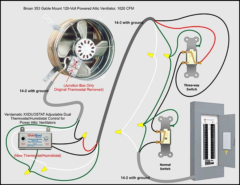 wiring diagram for attic fan thermostat