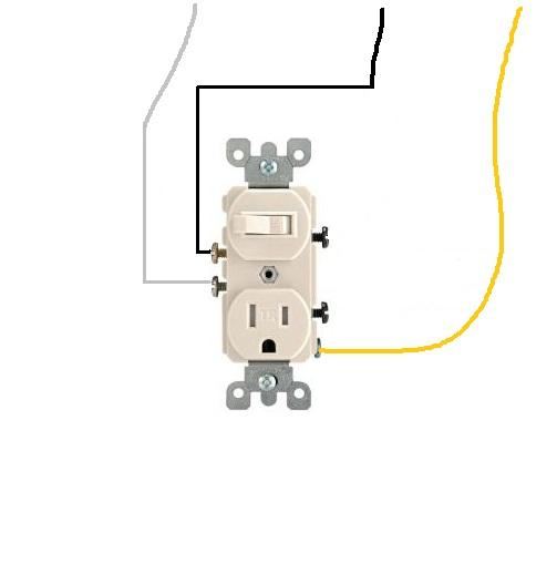 simple three way switch diagram 2003 honda crv radio wiring / outlet combo - always on electrical diy chatroom home improvement forum