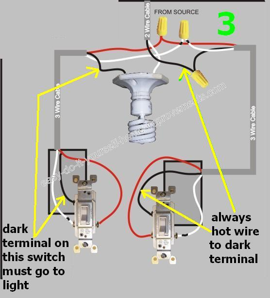 Wiring Light Switch Common Moreover 3 Way Switch Wiring Diagram