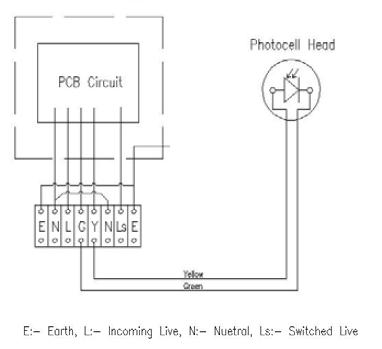 wiring diagram for photocell