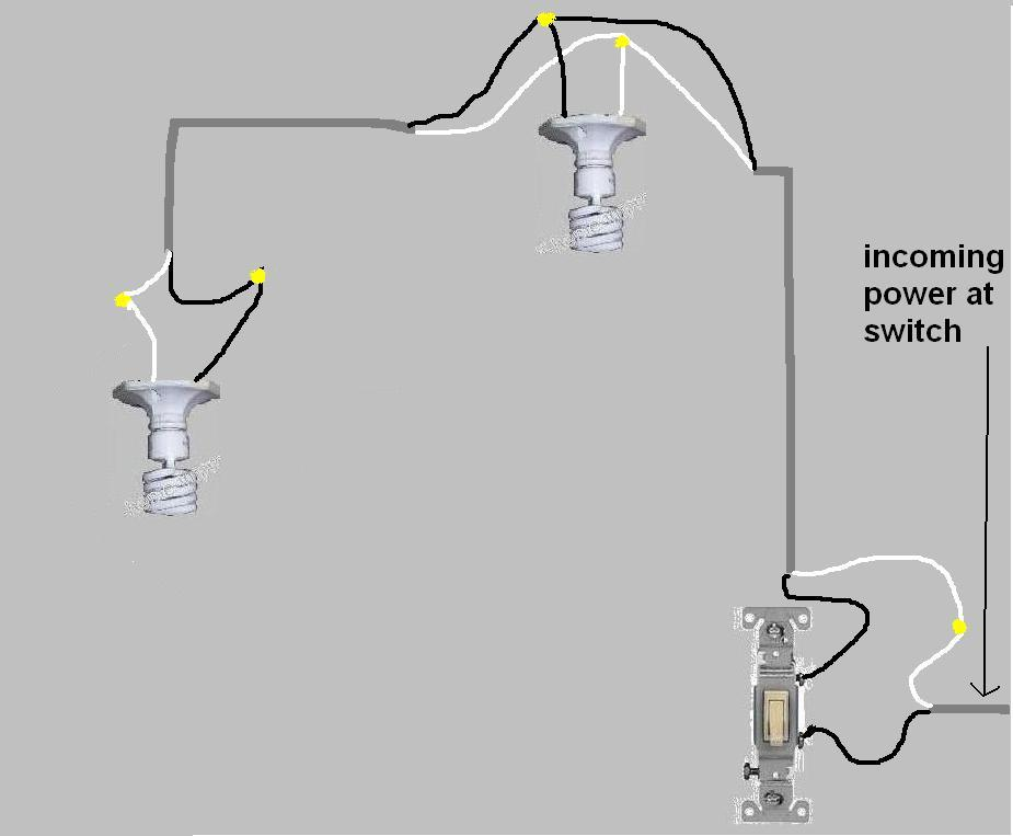 how to wire 4 lights to one switch
